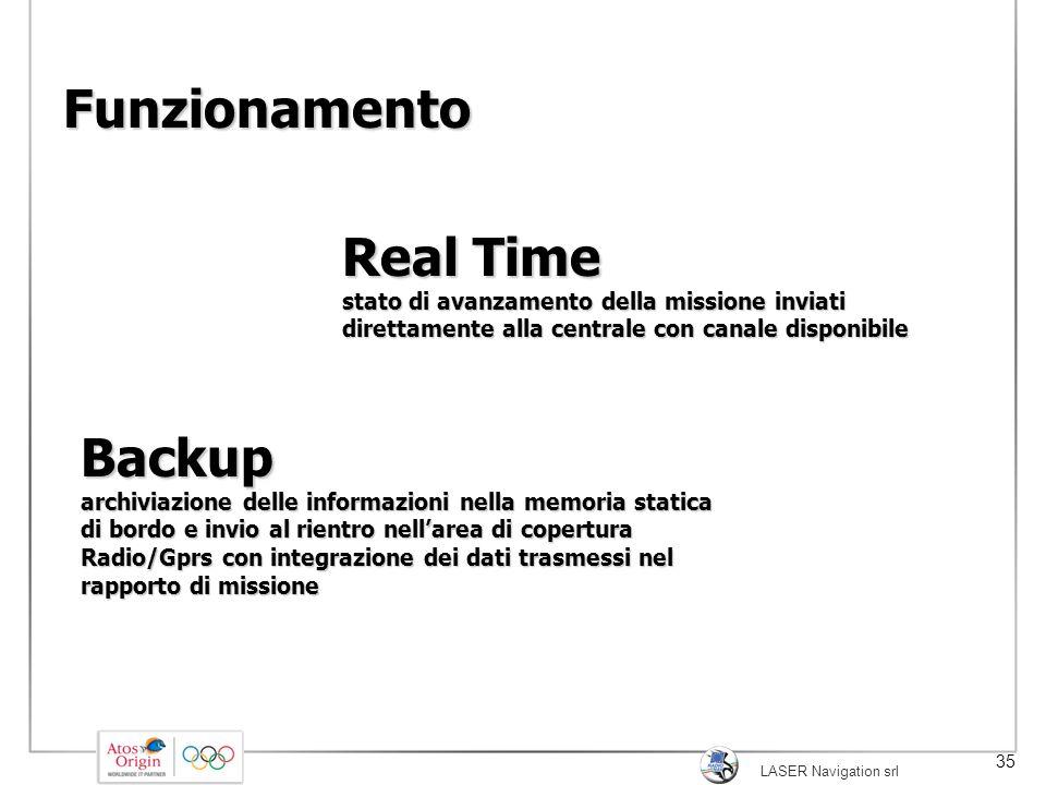 Funzionamento Real Time stato di avanzamento della missione inviati direttamente alla centrale con canale disponibile.