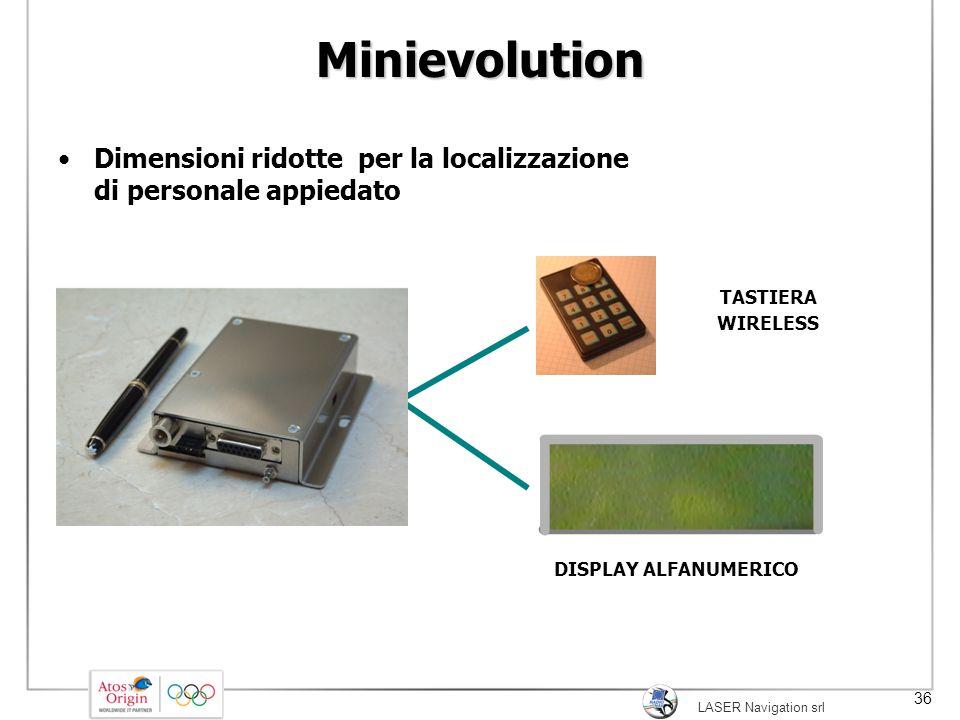 Minievolution Dimensioni ridotte per la localizzazione di personale appiedato. TASTIERA. WIRELESS.