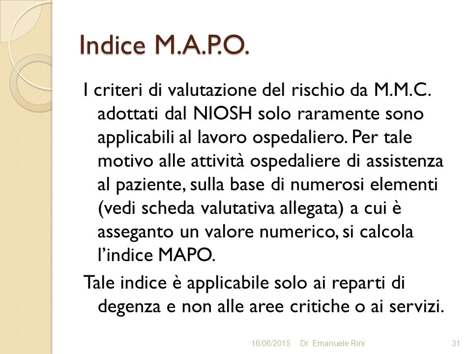 Indice M.A.P.O.