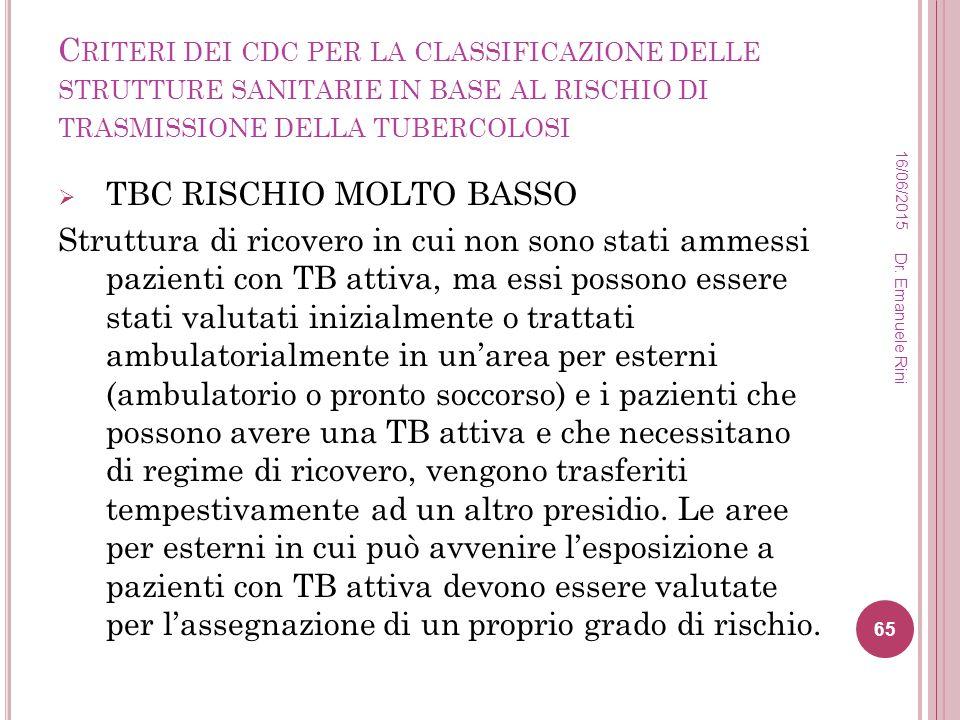 TBC RISCHIO MOLTO BASSO