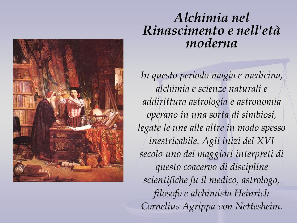 Alchimia nel Rinascimento e nell età moderna