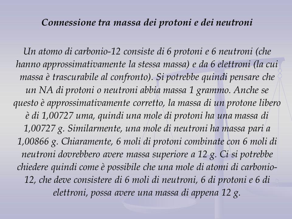 Connessione tra massa dei protoni e dei neutroni