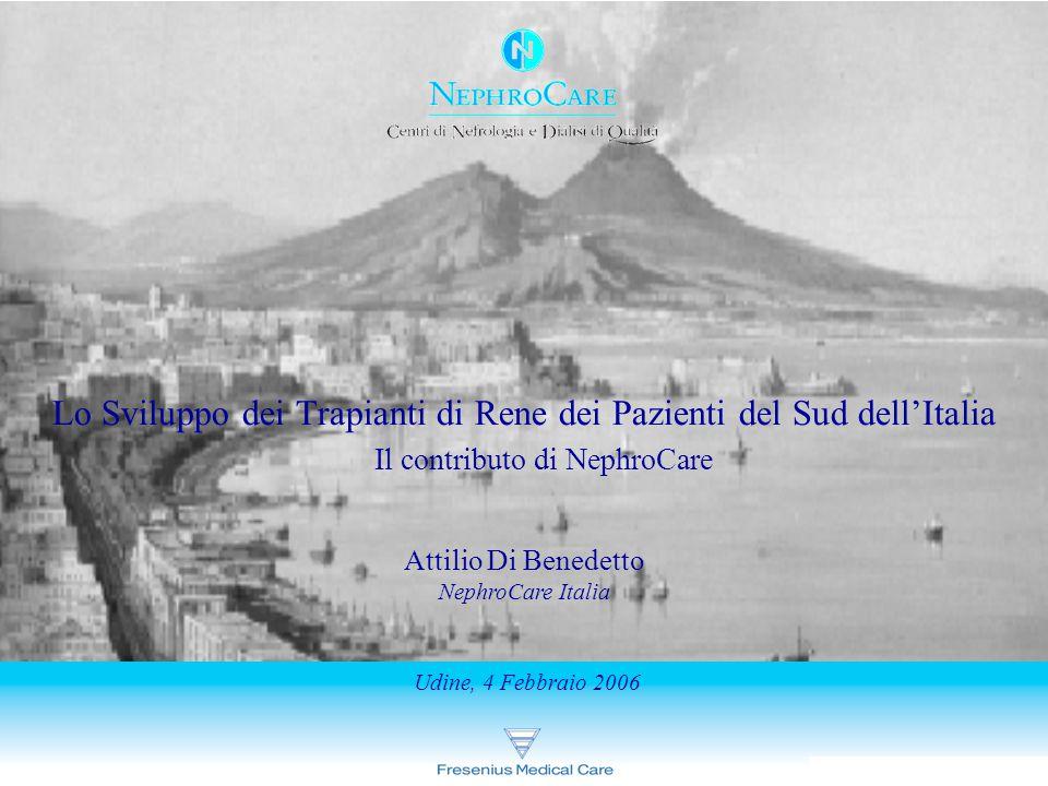 Lo Sviluppo dei Trapianti di Rene dei Pazienti del Sud dell'Italia