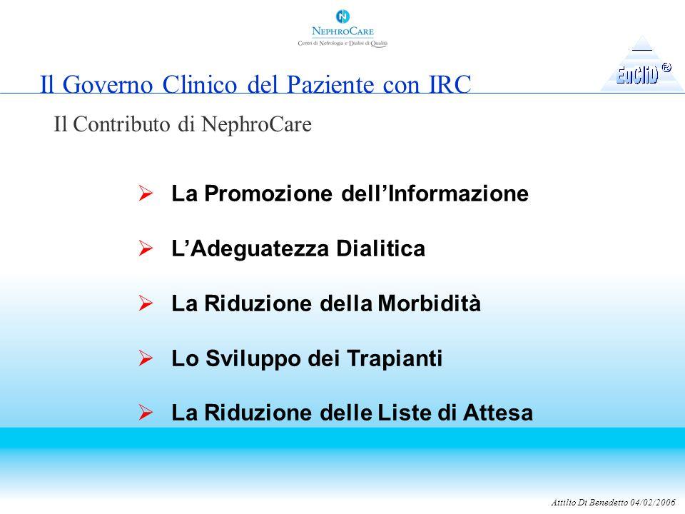 Il Governo Clinico del Paziente con IRC