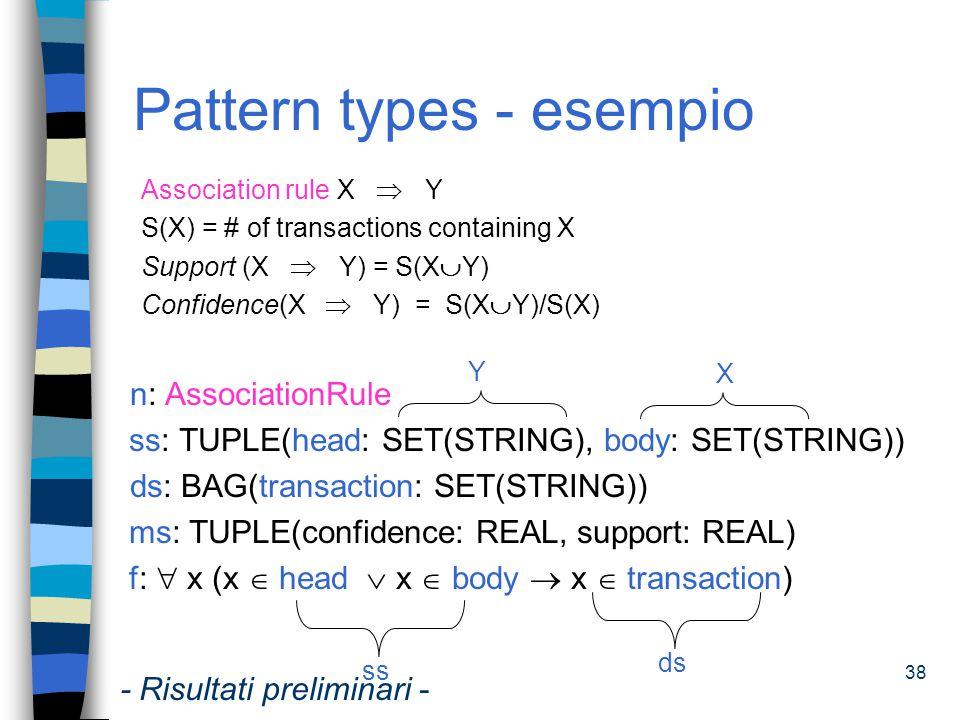 Pattern types - esempio