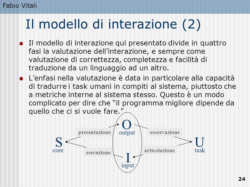Il modello di interazione (2)