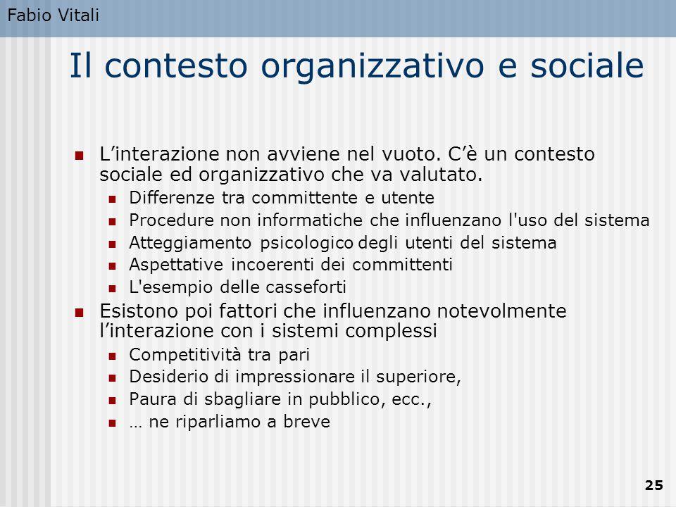 Il contesto organizzativo e sociale
