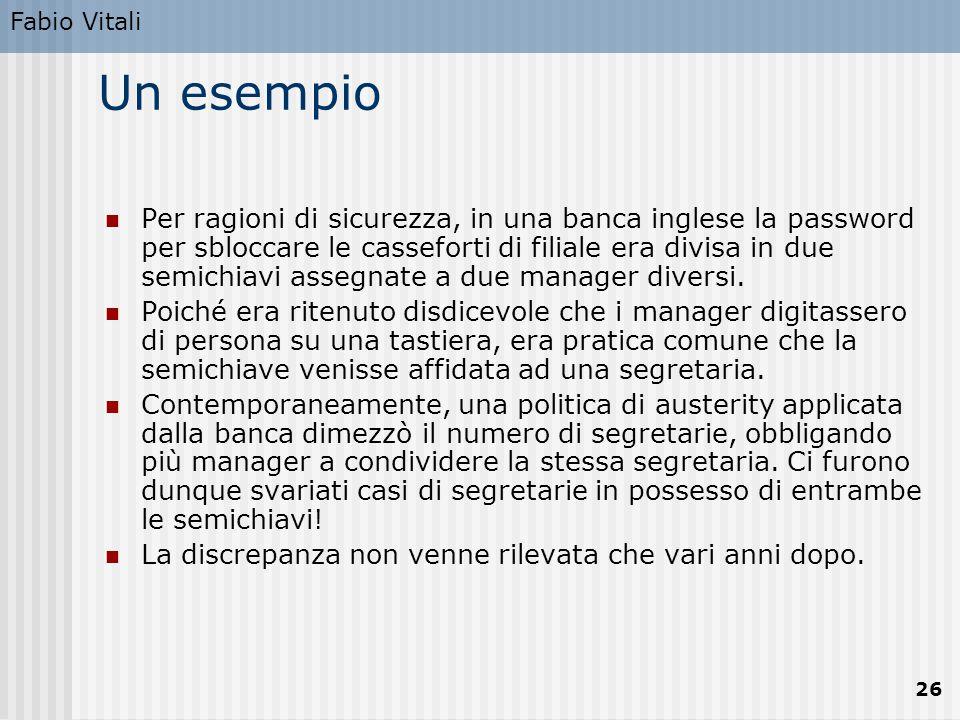 Fabio Vitali Un esempio.