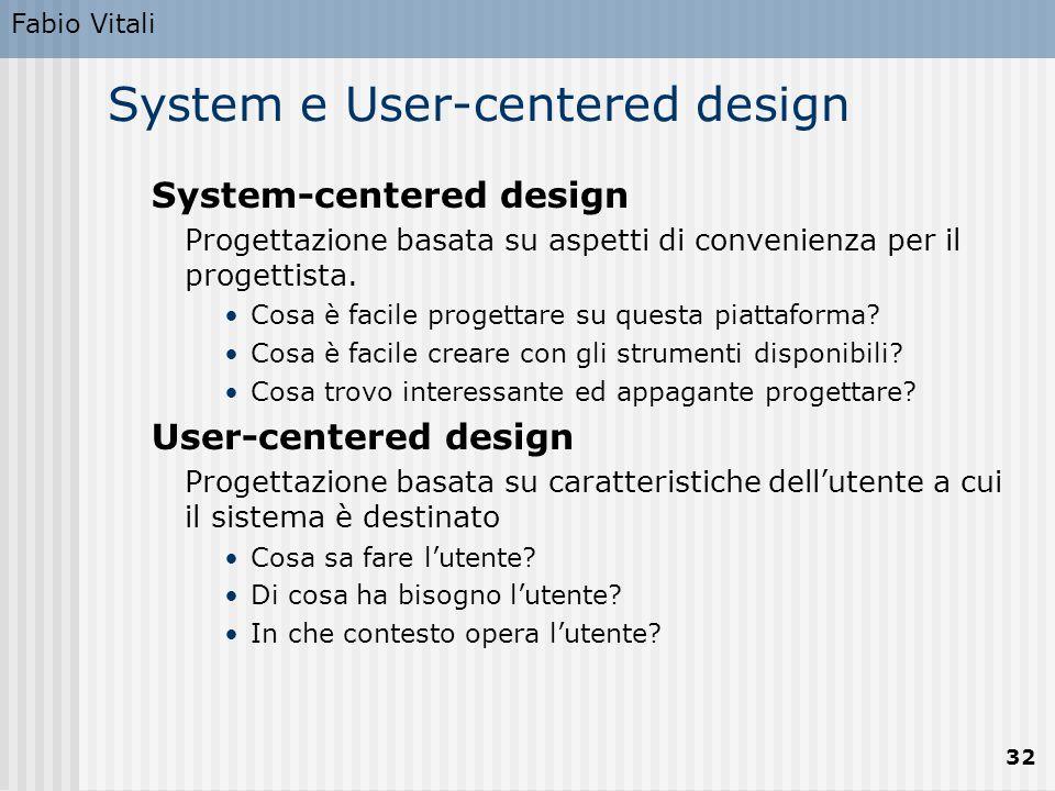 System e User-centered design