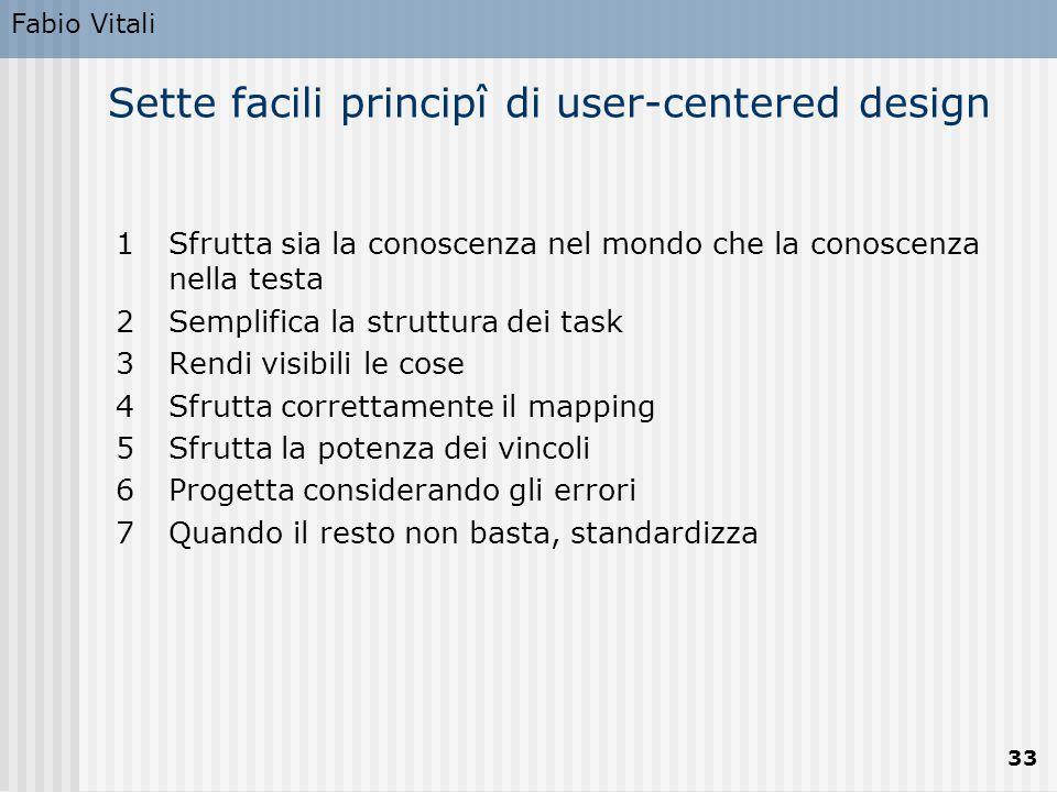 Sette facili principî di user-centered design