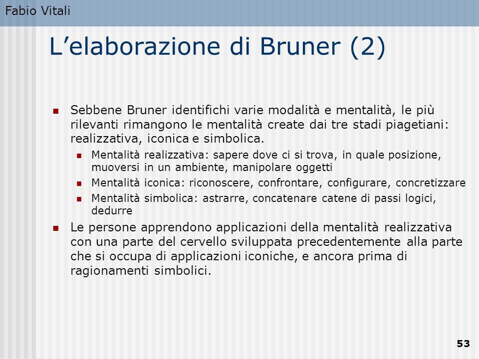 L'elaborazione di Bruner (2)