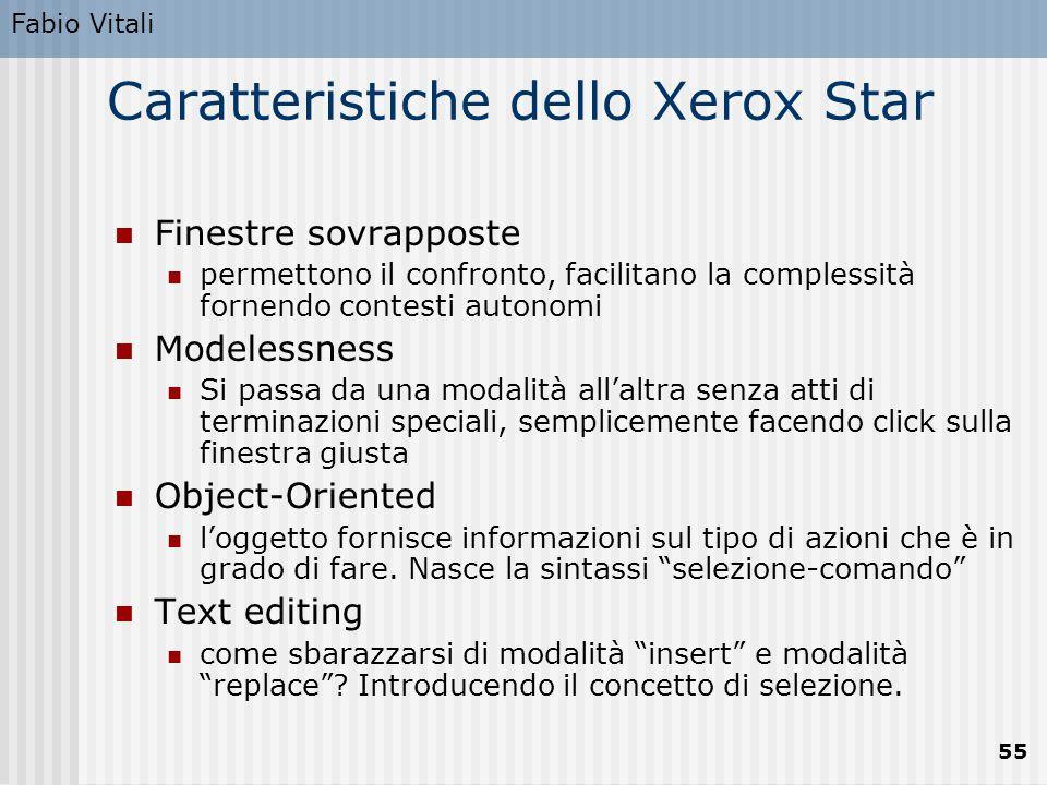 Caratteristiche dello Xerox Star