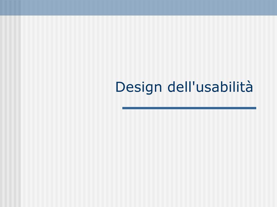 Design dell usabilità