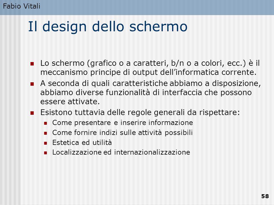 Il design dello schermo