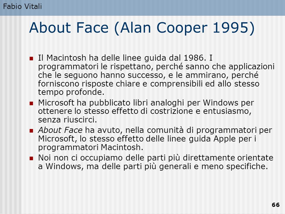 About Face (Alan Cooper 1995)