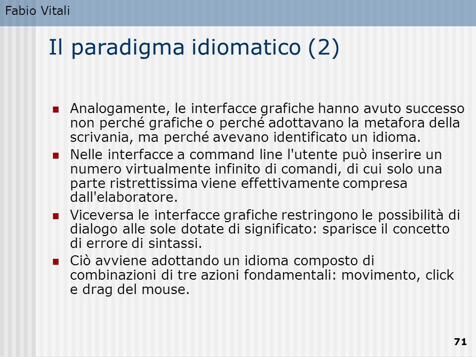 Il paradigma idiomatico (2)