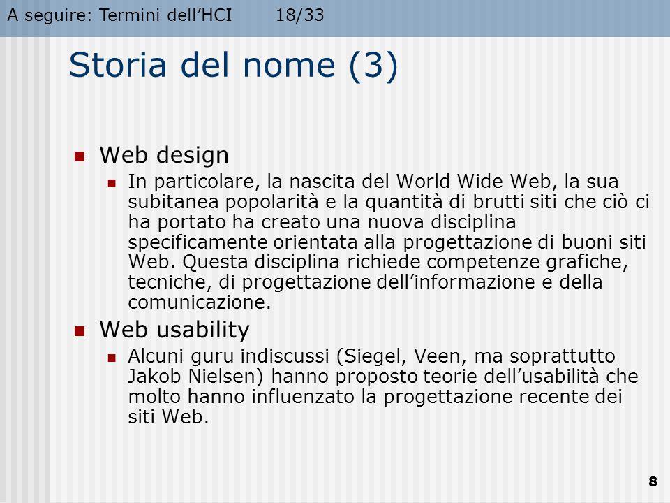 Storia del nome (3) Web design Web usability