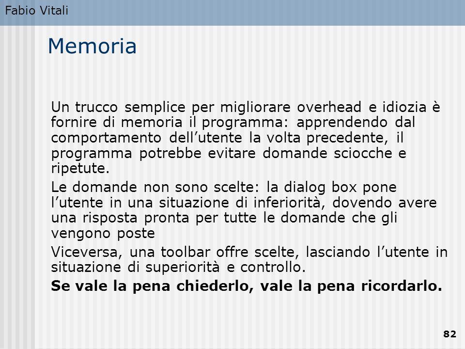 Fabio Vitali Memoria.