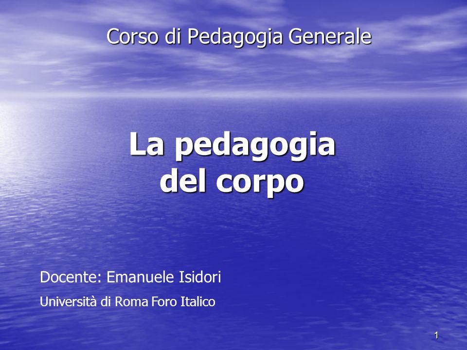 Corso di Pedagogia Generale