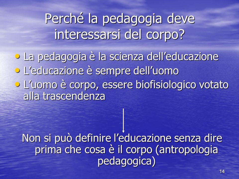 Perché la pedagogia deve interessarsi del corpo