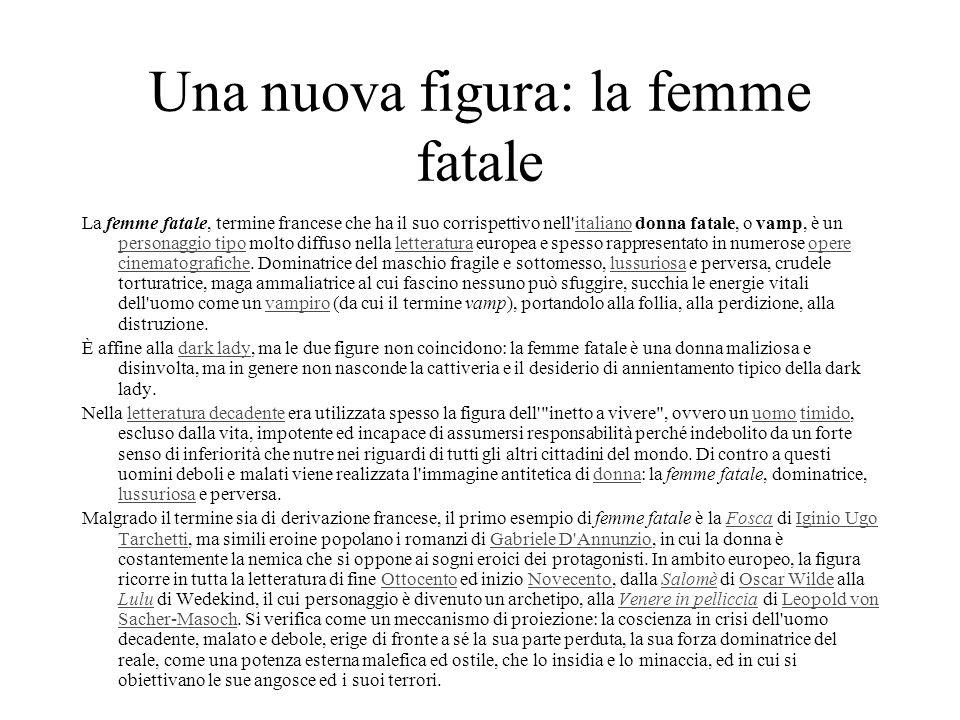 Una nuova figura: la femme fatale