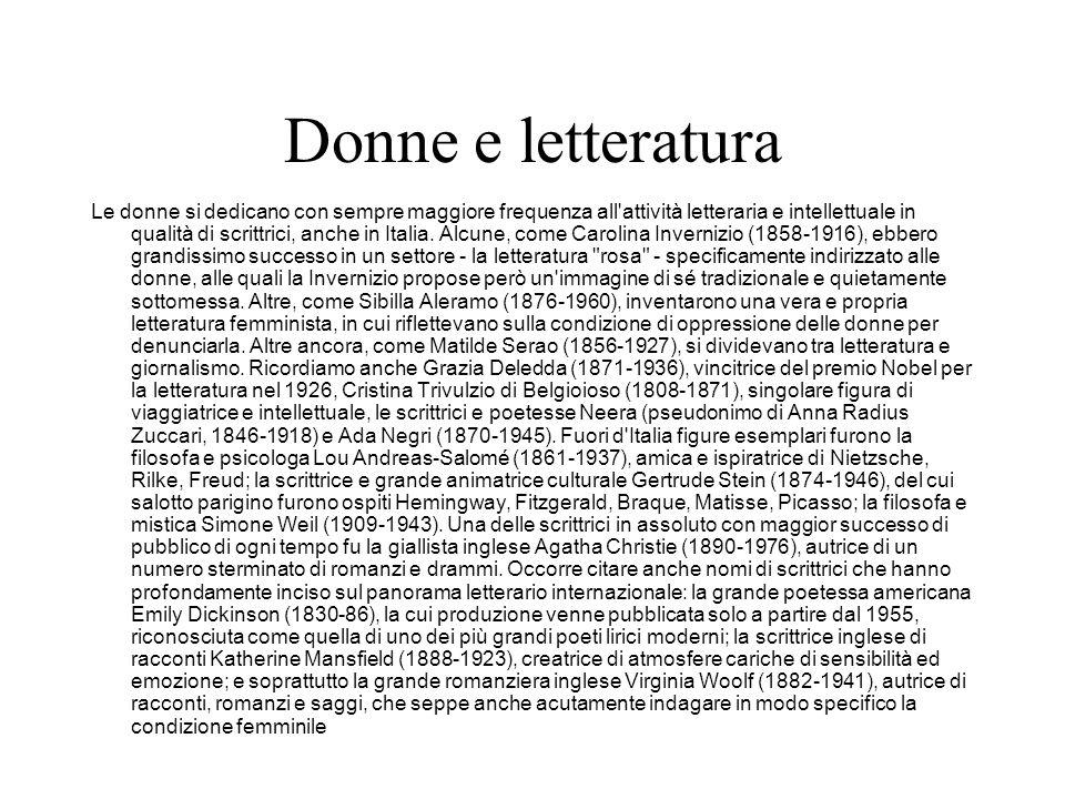 Donne e letteratura