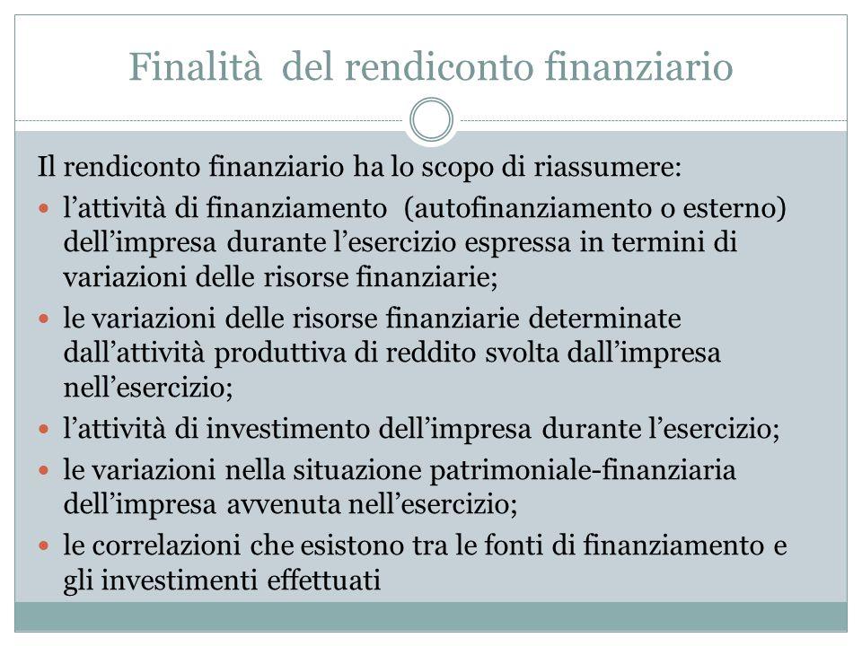 Finalità del rendiconto finanziario