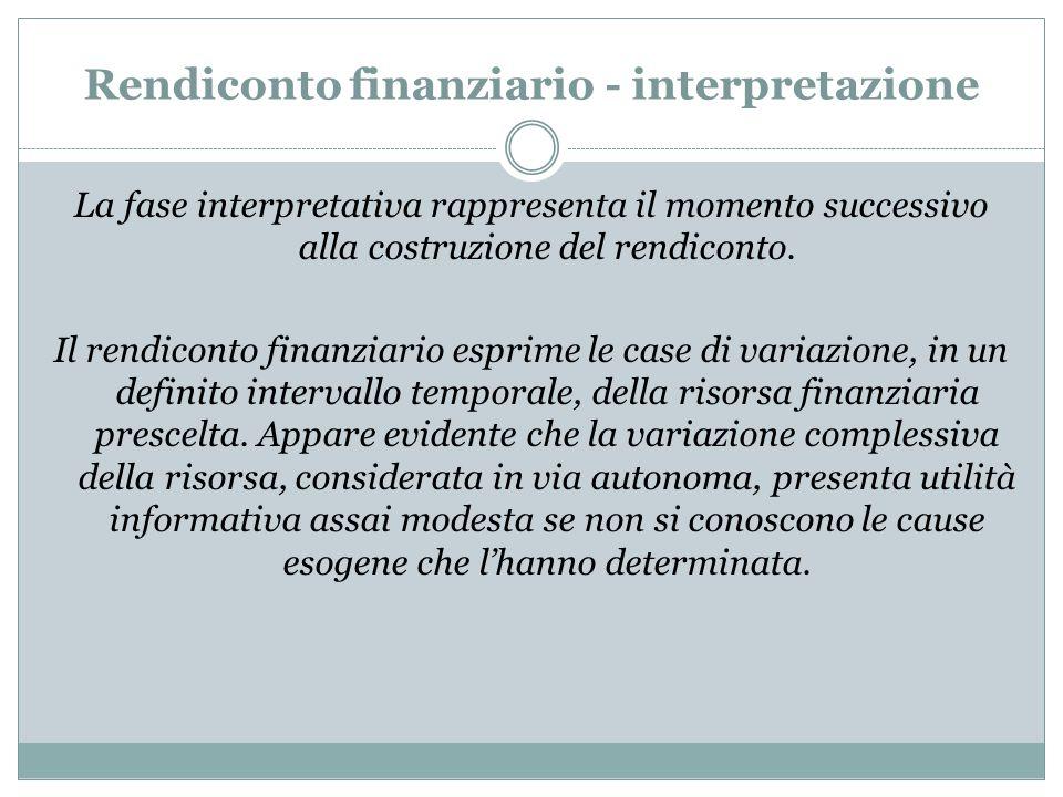 Rendiconto finanziario - interpretazione