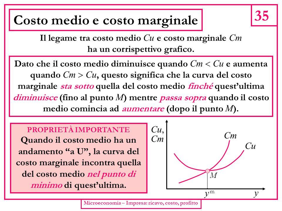 Costo medio e costo marginale