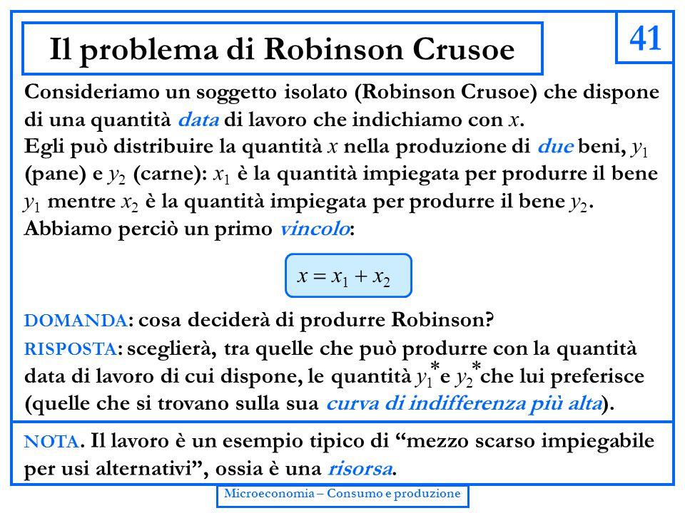 Il problema di Robinson Crusoe