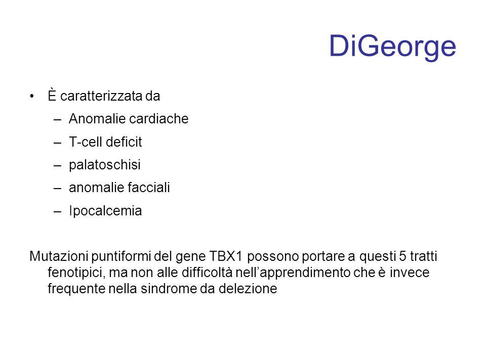 DiGeorge È caratterizzata da Anomalie cardiache T-cell deficit