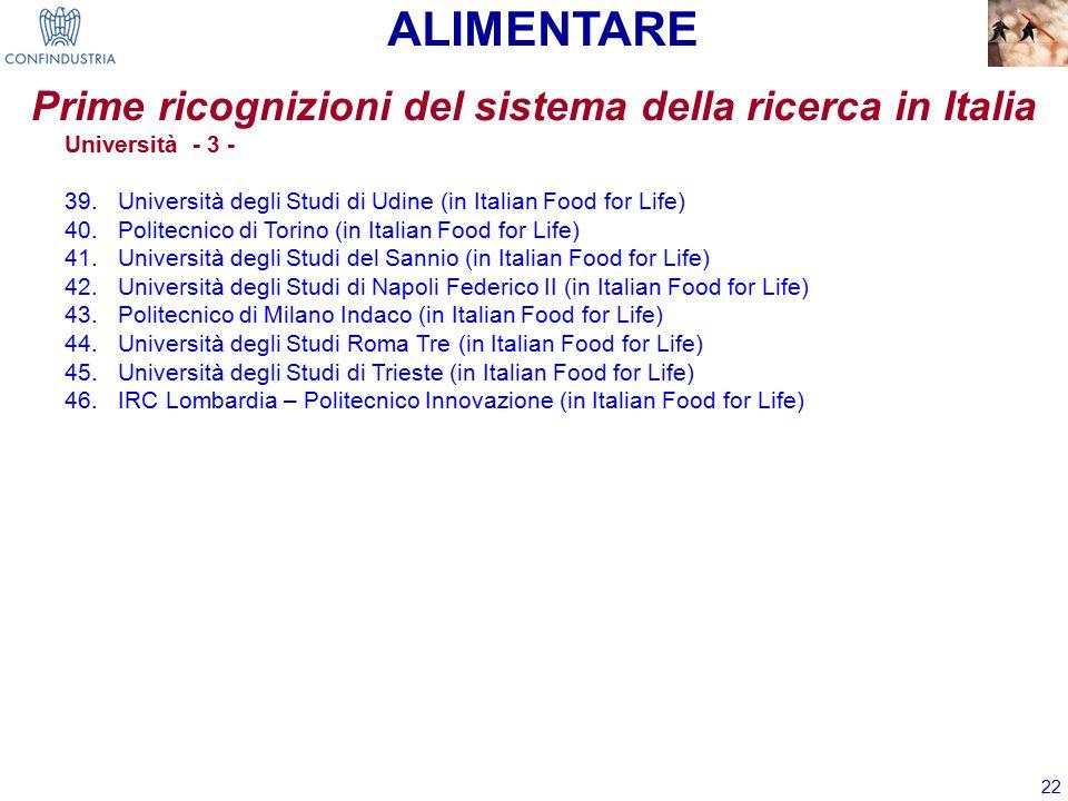 Prime ricognizioni del sistema della ricerca in Italia