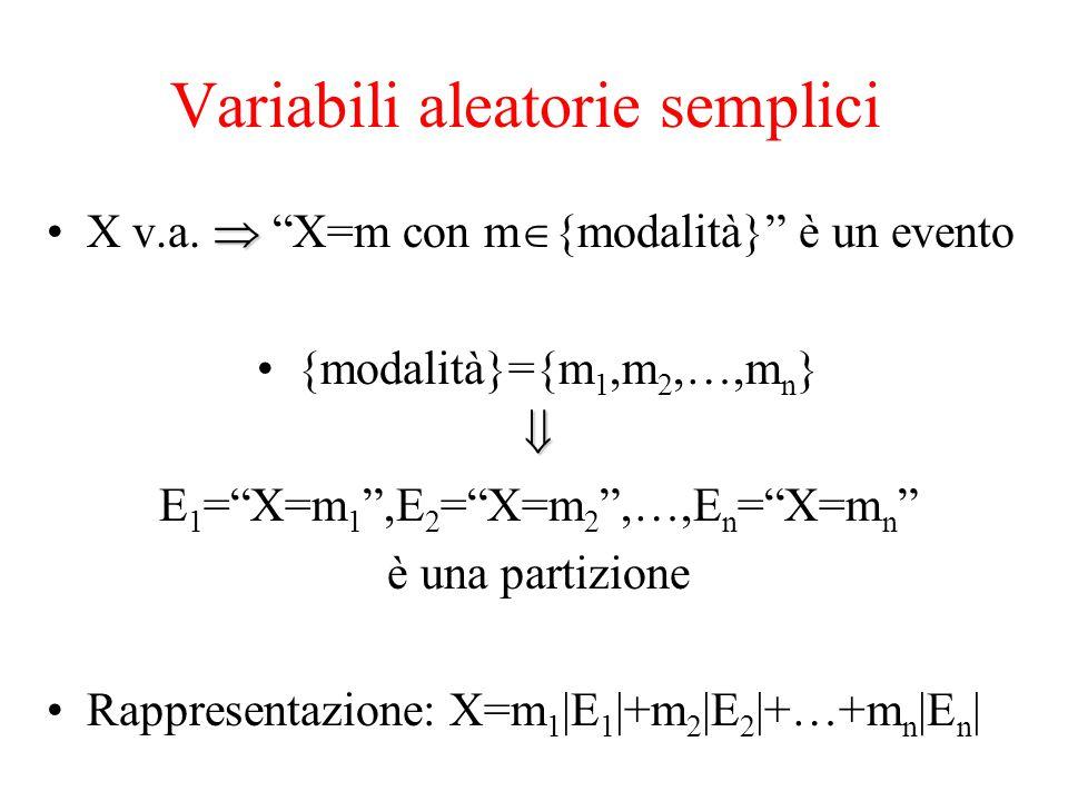 Variabili aleatorie semplici