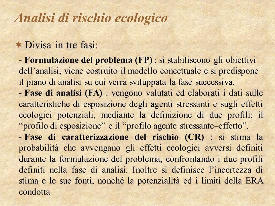 Analisi di rischio ecologico