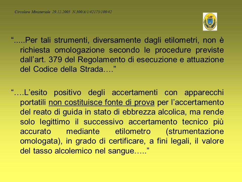 Circolare Ministeriale 29.12.2005 N.300/A/1/42175/109/42