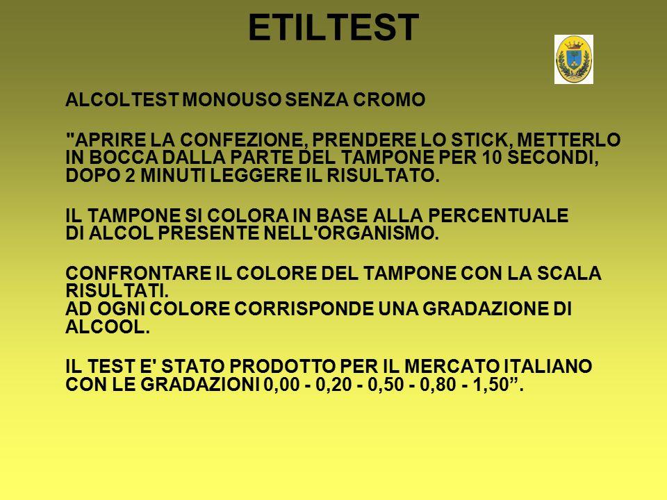 ETILTEST ALCOLTEST MONOUSO SENZA CROMO