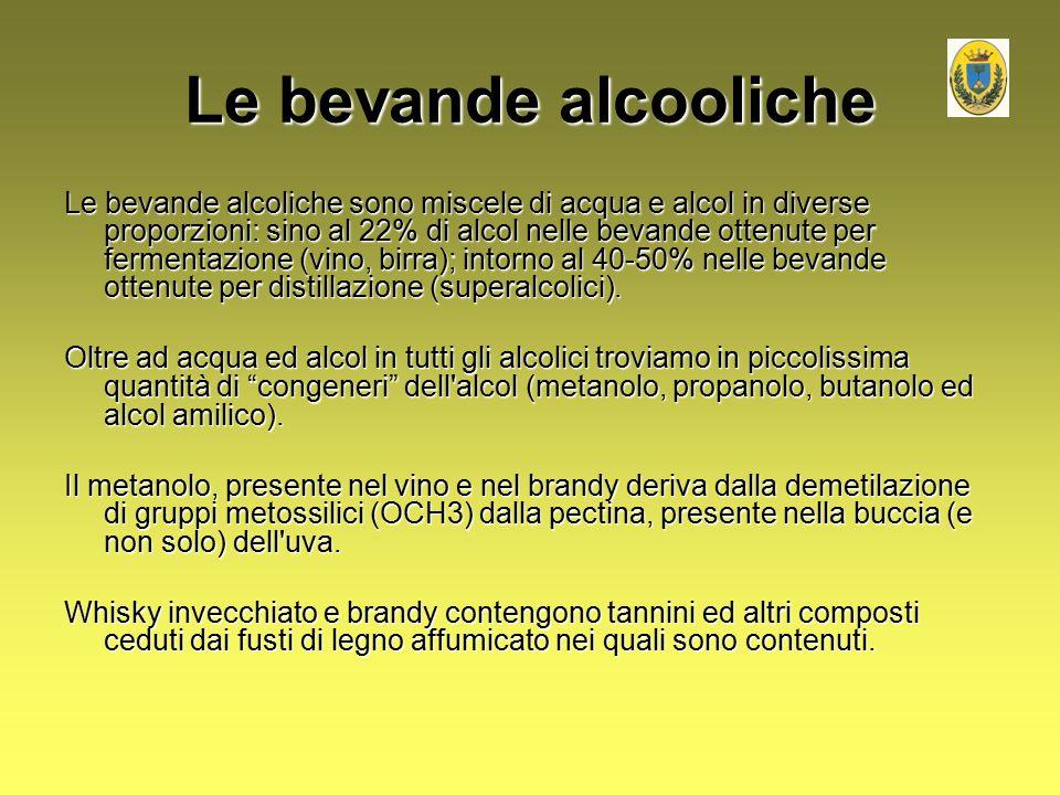 Le bevande alcooliche
