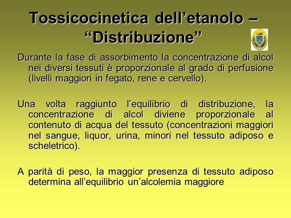 Tossicocinetica dell'etanolo – Distribuzione