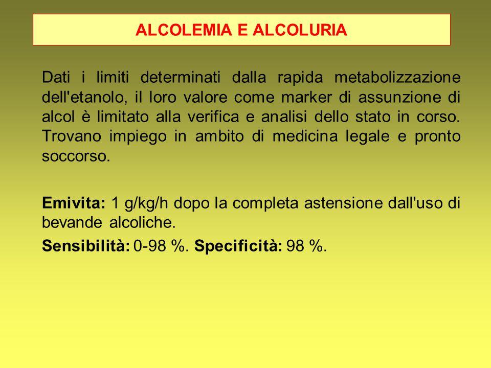 ALCOLEMIA E ALCOLURIA