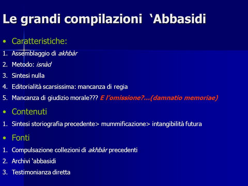 Le grandi compilazioni 'Abbasidi