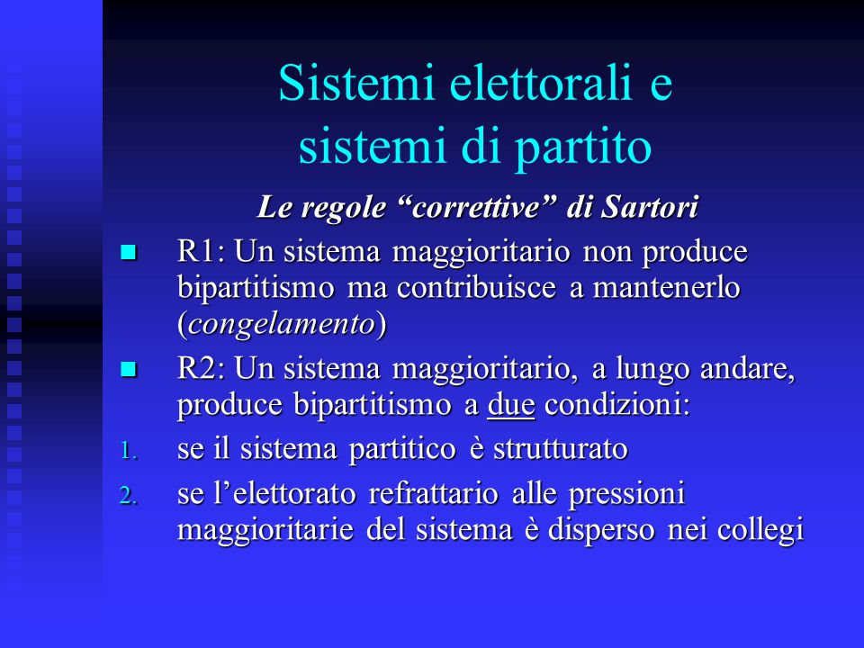 Sistemi elettorali e sistemi di partito