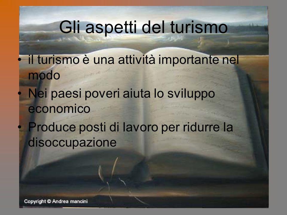 Gli aspetti del turismo