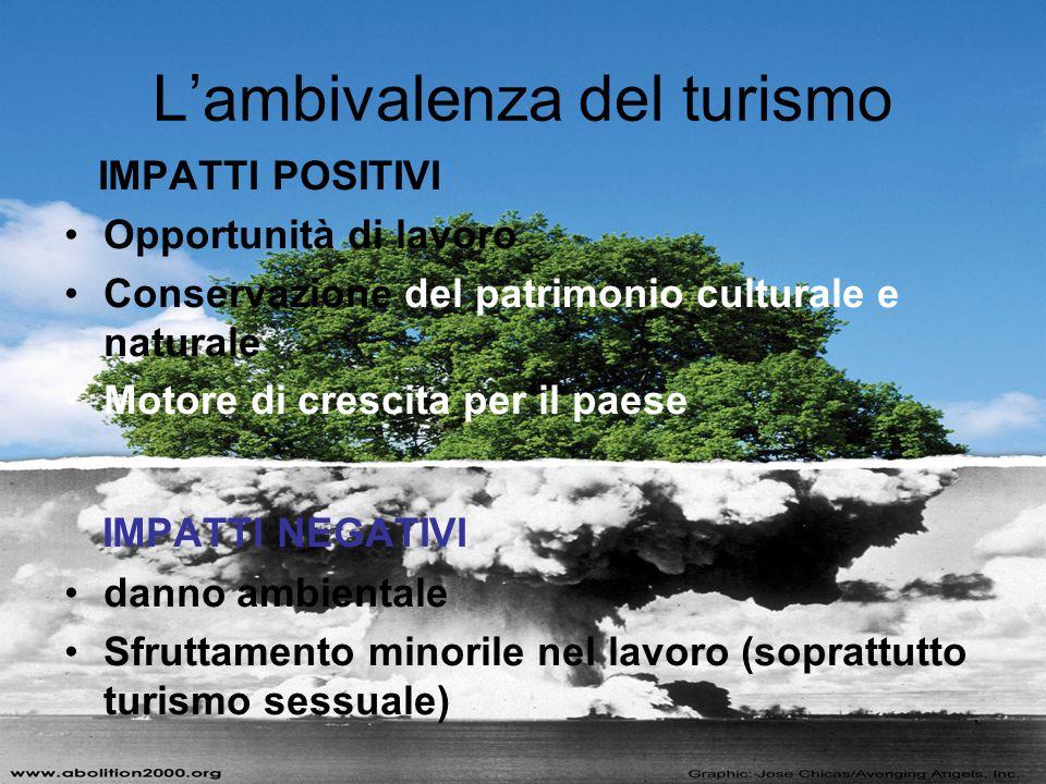 L'ambivalenza del turismo