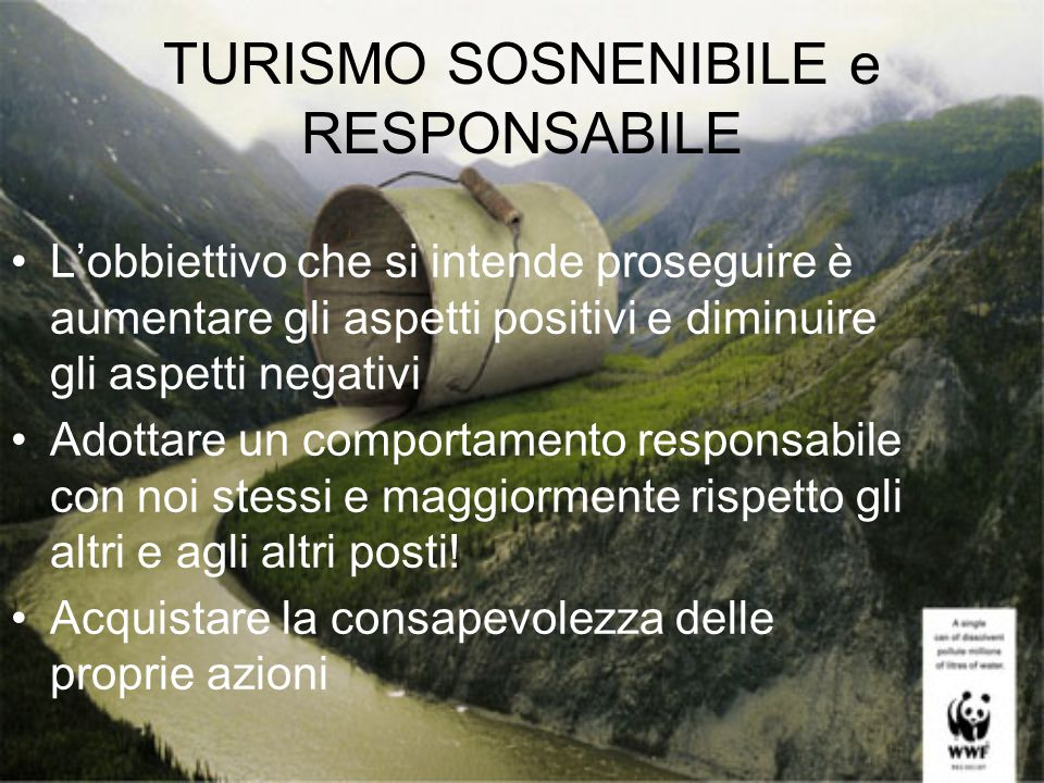 TURISMO SOSNENIBILE e RESPONSABILE