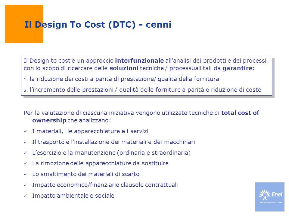 Il Design To Cost (DTC) - cenni