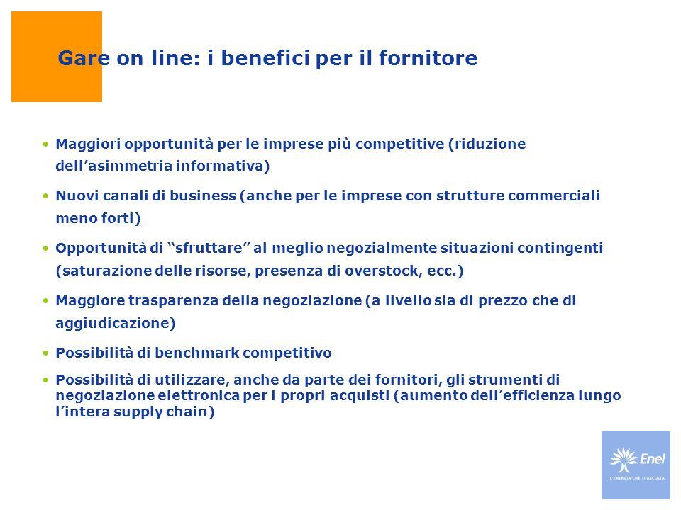 Gare on line: i benefici per il fornitore