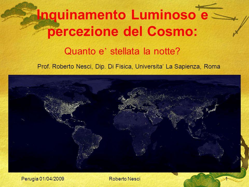 Inquinamento Luminoso e percezione del Cosmo: Quanto e' stellata la notte
