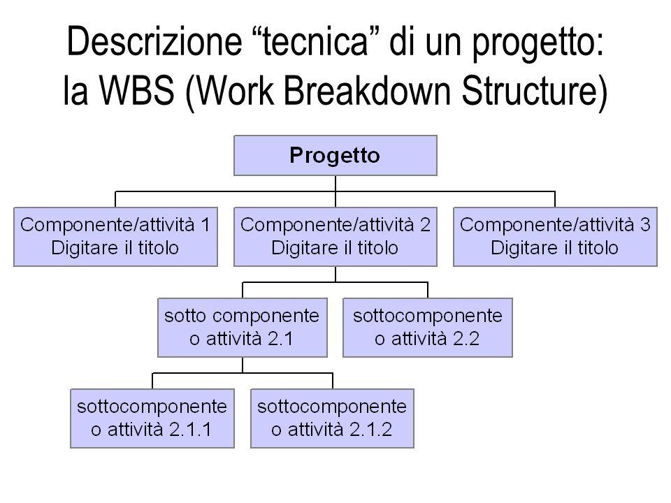 Descrizione tecnica di un progetto: la WBS (Work Breakdown Structure)