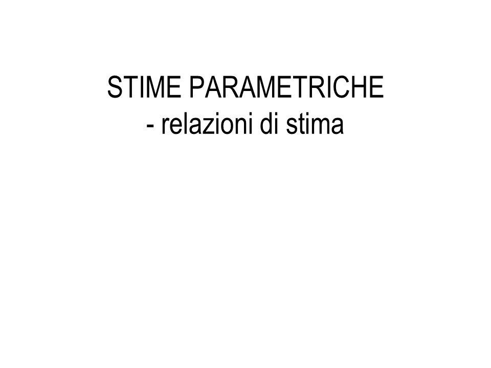 STIME PARAMETRICHE - relazioni di stima