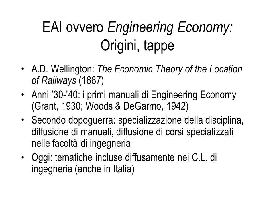 EAI ovvero Engineering Economy: Origini, tappe
